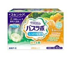 Увлажняющая соль для ванны Hakugen с ароматы леса и юдзу 16 таб