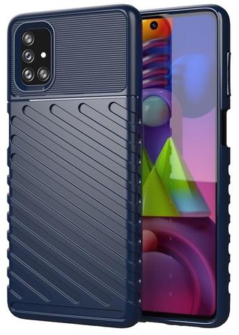 Темно-синий ударопрочный чехол на Samsung Galaxy M51, серия Onyx от Caseport