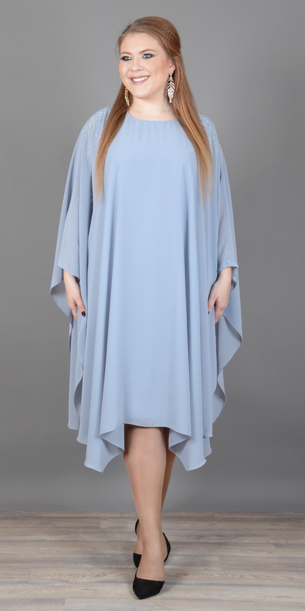 Платья Платье двойное из шифона  и трикотажа П-363-3 p-363-3-1000x2000.jpg