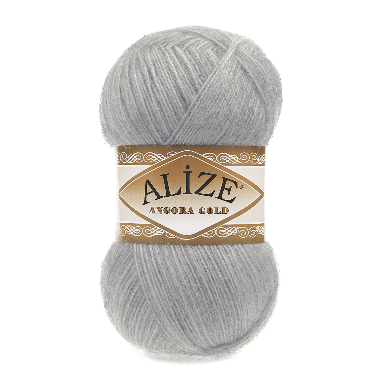 Пряжа Alize Angora Gold 21 серый