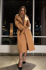Пальто из кашемира с поясом оптом