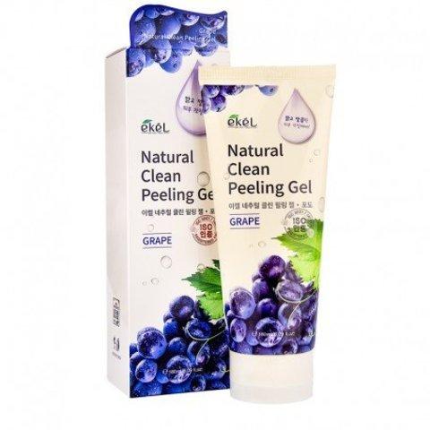Ekel Natural Clean Peeling Gel Grape пилинг-скатка с натуральным экстрактом винограда