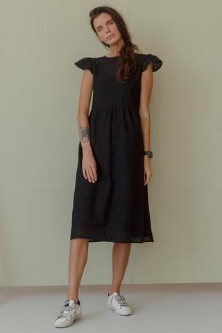 Платье с крылышками, черный