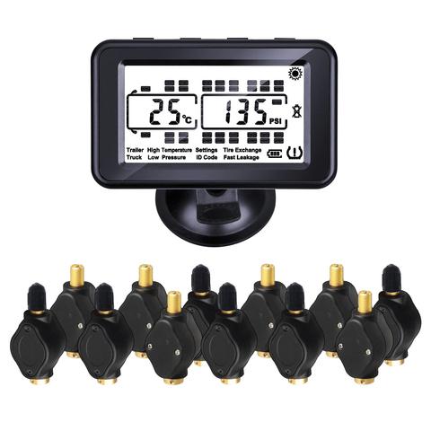 Система контроля давления в шинах TP934ST с внешними датчиками с подкачкой для грузовиков с прицепом (до 34 колес)
