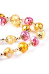Ожерелье и серьги (комплект украшений Bella розовый)