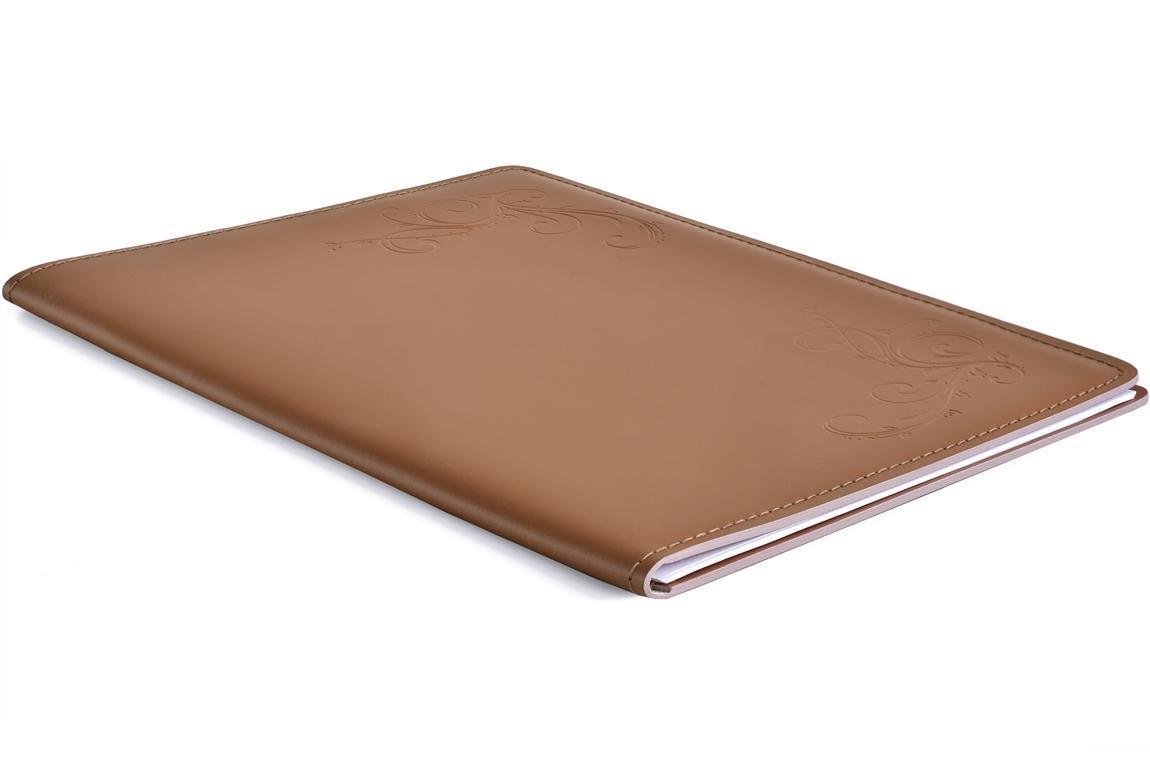 скетчбук кожаный цвет орех табак