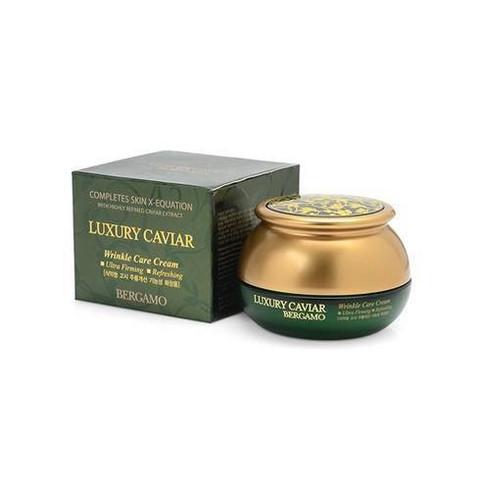Bergamo Luxury Caviar Wrinkle Care Cream омолаживающий крем с экстрактом черной икры