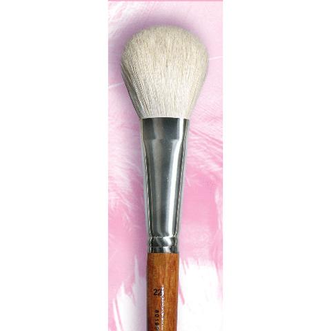 Кисть для румян овальная №22 / ворс белой козы / цвет ручки махагон / 801933122
