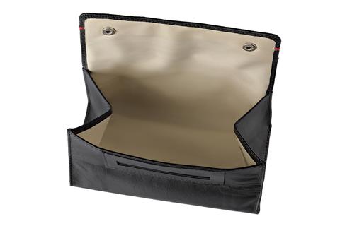Кисет для табака Zippo, чёрный, натуральная кожа, 15x2,5x8 см123
