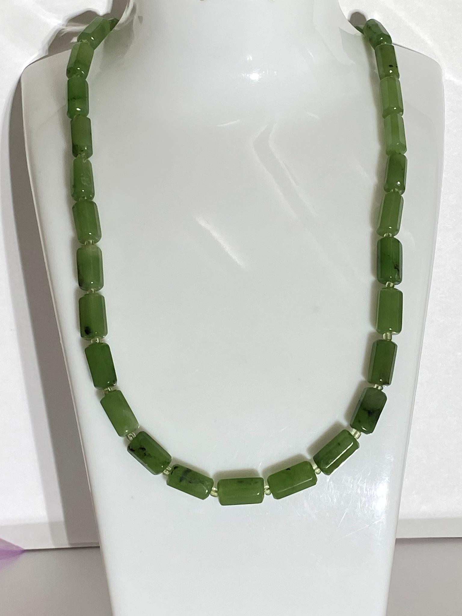 Нефрит 1,1 (бусы из натуральных камней)