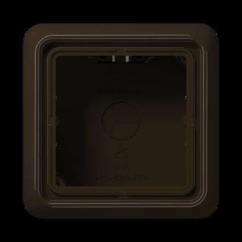 Накладная коробка на 1 пост. Цвет Коричневый. JUNG CD Накладные коробки. CD581ABR