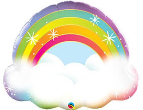 Фольгированная фигура Радуга в облаках