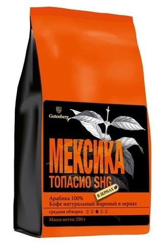 Кофе классический Мексика Топасио ЧАЙ ИП Кавацкая М.А. 0,1кг