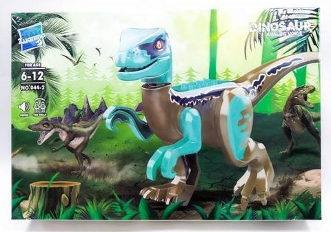 Конструктор Мир Юрского периода динозавр Велоцираптор (048-1)звук