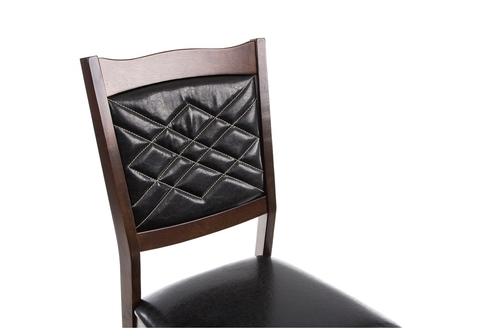 Стул деревянный кухонный, обеденный, для гостиной Vale cappuccino 44*44*92 Cappuccino /Черный кожзам
