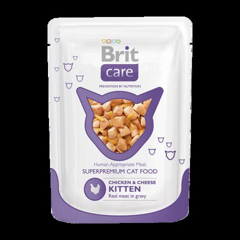 Brit Care Kitten Консервы для котят с курицей и сыром (пауч)