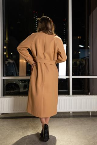 Пальто из кашемира с поясом недорого