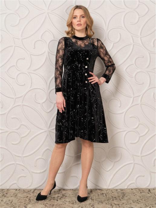 Платье pl-70107C/черный