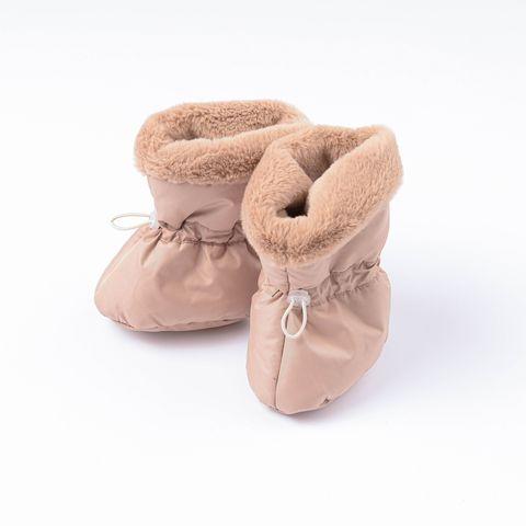 Warm fur boots 0+, Desert Sand