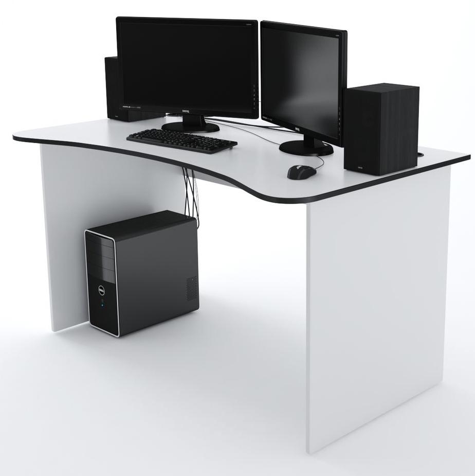 Стол Компьютерный SURF 1400 Белый/Черный