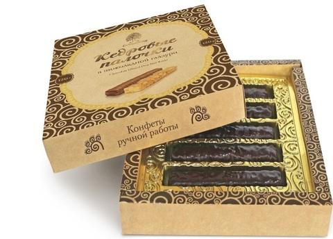 Палочки кедровые, Сибирский Кедр, в шоколаде, 120 г