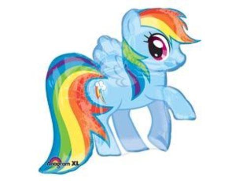 Фольгированный шар My Little Pony радужная