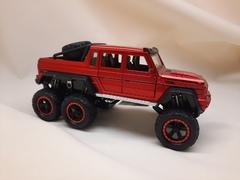 Металлическая Машина  монстер-трак Mercedes-Benz G63 красная