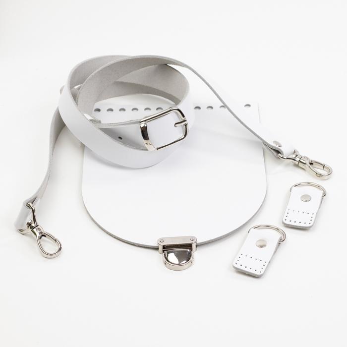 """Комплекты Комплект для сумки-ракушки """"Белый"""" с ручкой через плечо и клапаном IMG_9286.jpg"""
