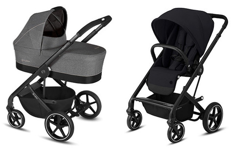 Детская коляска Cybex Balios S Manhattan Grey + Balios S Lux BLK