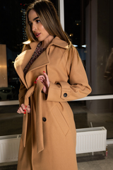 Пальто из кашемира с поясом купить