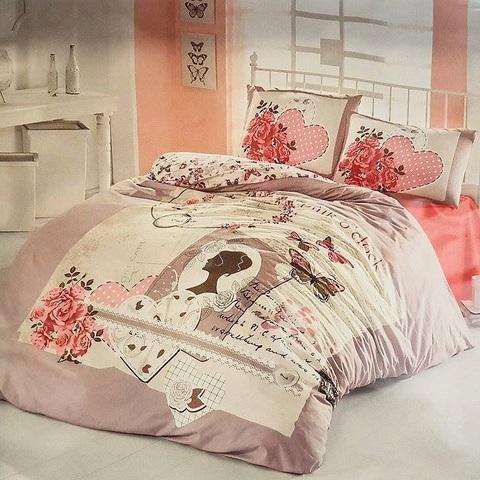 1.5-Спальное постельное белье ранфорс SURA
