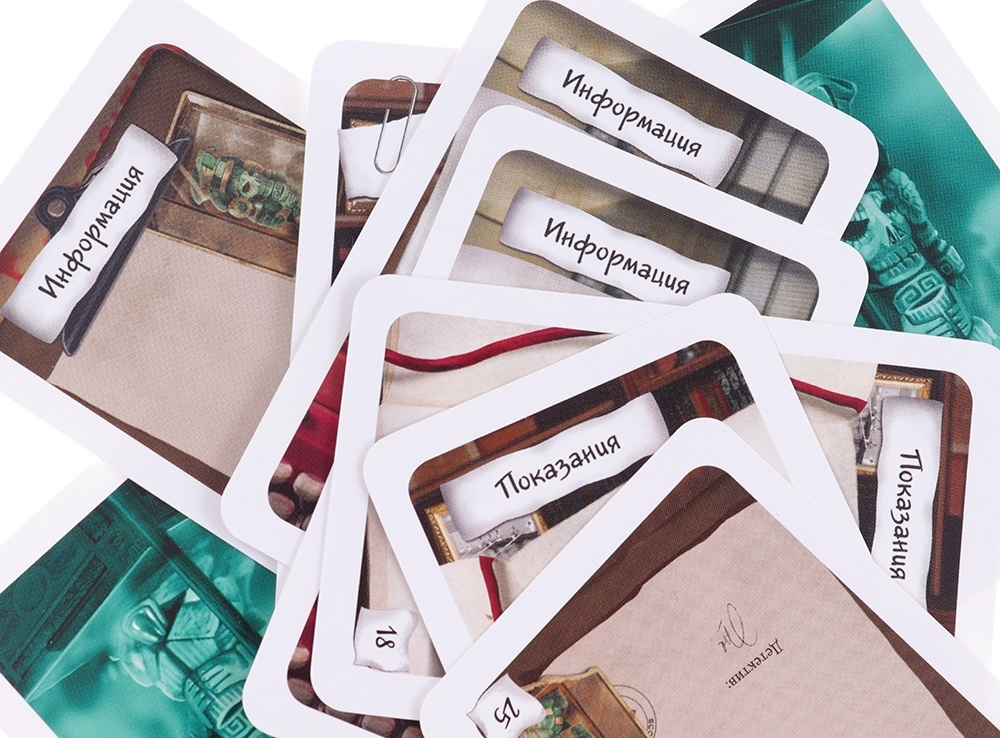 Настольная игра Элементарно! Смерть археолога карточки