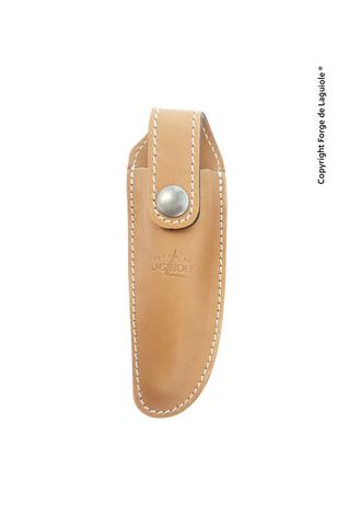 Чехол кожаный на пояс для складного ножа с лезвием 12 см. натурального цвета., Forge de Laguiole, дизайн AUBRAC A 3 F