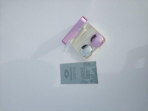 Ярко розовый фирменный Travel box Marquise для хранения контактных и цветных линз