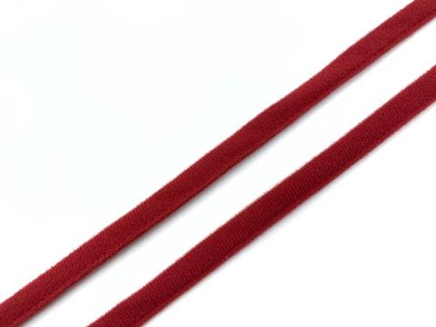 Ворсовая тесьма под каркасы темно-красная (цв. 101)