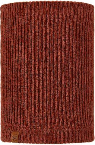 Вязаный шарф-труба с флисом Buff Neckwarmer Knitted Polar Lyne Rusty фото 1