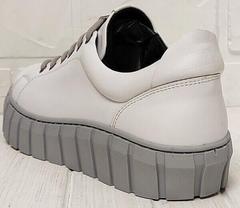 Кеды женские белые кроссовки на платформе Guero G146 508 04 White Gray.