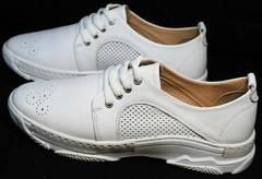 Женские летние кроссовки туфли с дырочками Derem 18-104-04 All White