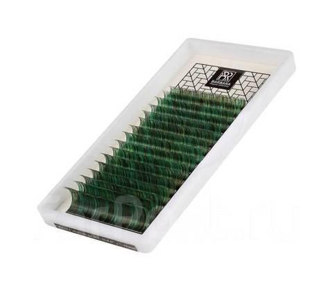 Омбре ресницы BARBARA (зеленые) МИКС (C 0.07 7-15mm)