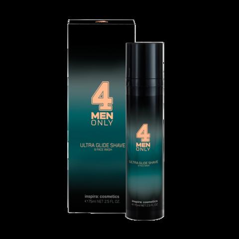 INSPIRA Ультрамягкий гель-крем для умывания и бритья 4 Men Only | Ultra Glide Shave & Face Wash