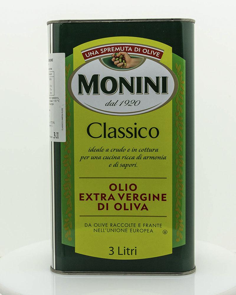 Масло оливковое Monini Экстра Вирджин Классико 3 л.