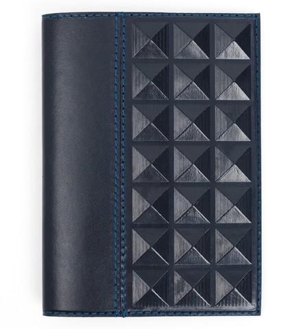Обложка на паспорт «Геометрия». Цвет синий