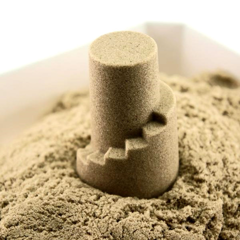 Кинетический песок Arhi-Sand (АРХИСЕНД), 2 кг + 6 формочек