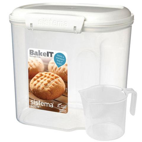"""Контейнер пищевой с мерным стаканом Sistema """"BAKE-IT"""" 2,4 л"""
