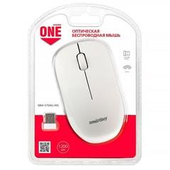 Мышь беспроводная SBM-370AG-WG бело-серый Smartbuy