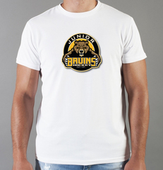 Футболка с принтом НХЛ Бостон Брюинз (NHL Boston Bruins) белая 002