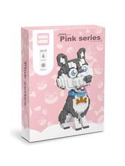 Конструктор Wisehawk & LNO Хаски 867 деталей NO. 2610 Husky Pink Series