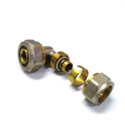 Угол переходной для металлопластиковых труб  16*20 Valve