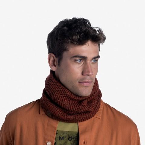 Вязаный шарф-труба с флисом Buff Neckwarmer Knitted Polar Lyne Rusty фото 2