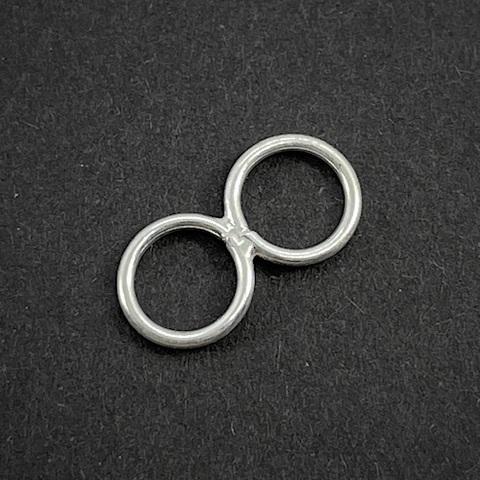 Коннектор  Два кольца 16х8 мм серебро 925